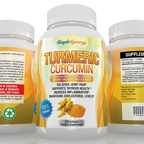 Turmeric Curcumin Label
