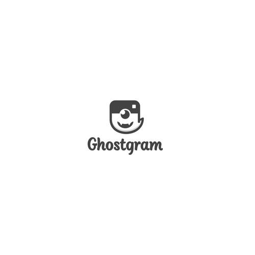 character logo for ghostgram