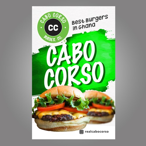 Billboard Design for the Best Burgers in Ghana