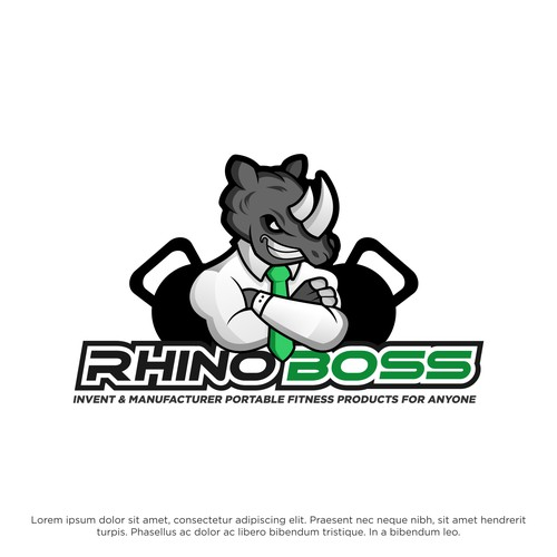 Mascot Logo for Rhino Boss
