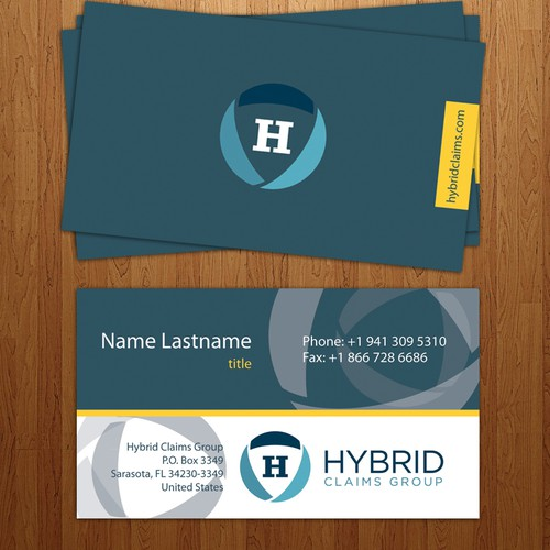 business card for claims group