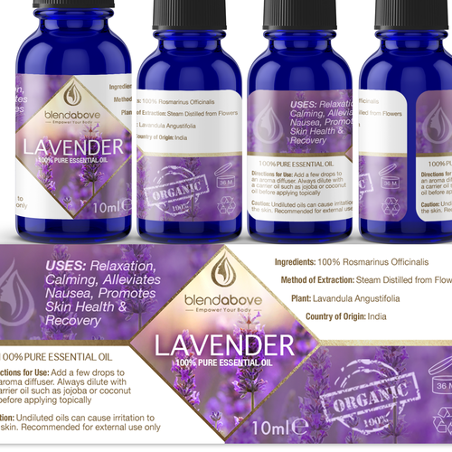 Essential oils labels