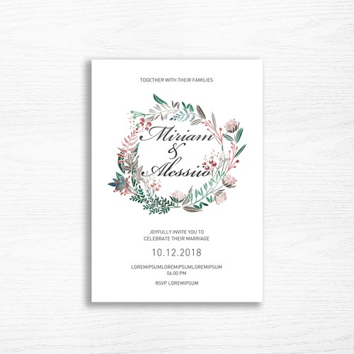 Autumn Wedding Card