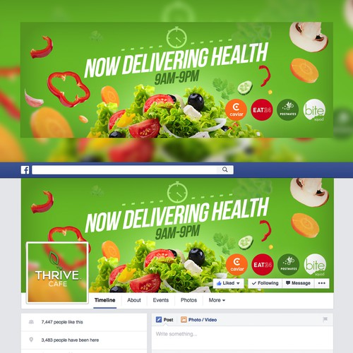 Salads Restaurant Facebook Cover