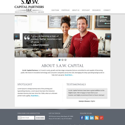 Website Design for a VC Firm