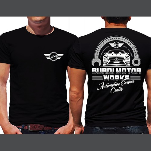 Automotive Service Center T shirts Design