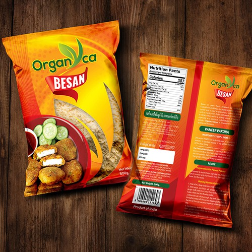 Besan Packaging Design