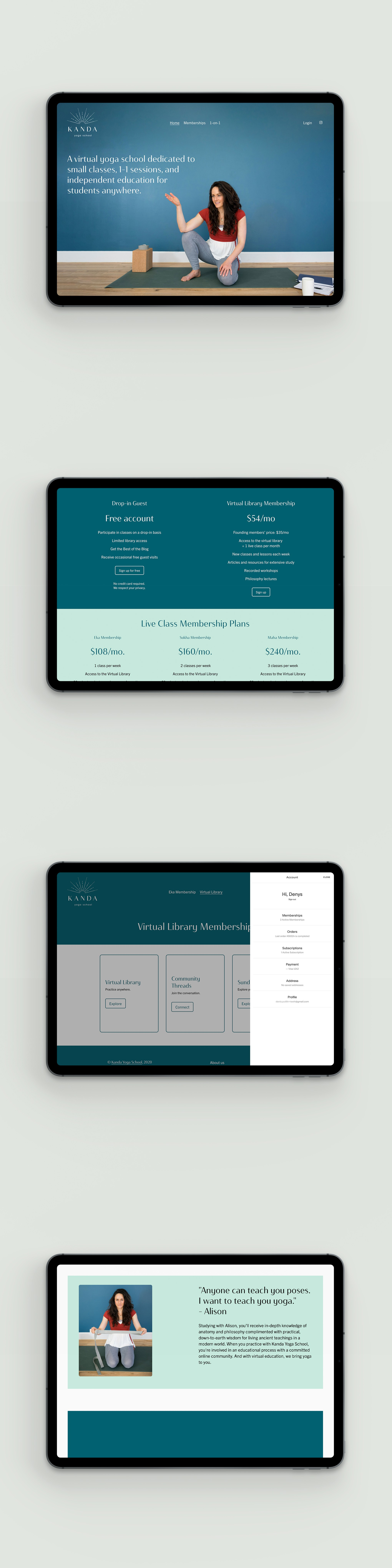Website redesign with Member Areas