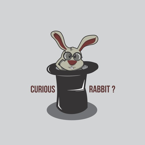 Curious Rabbit. He wants to know everything.