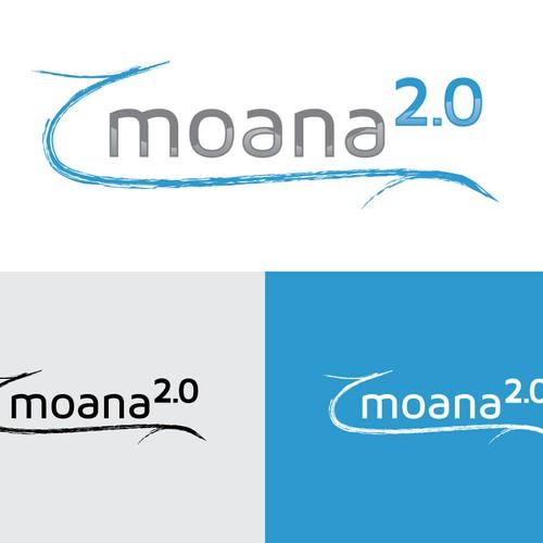 Web 2.0 inspired logo for Hawaiian Cafe