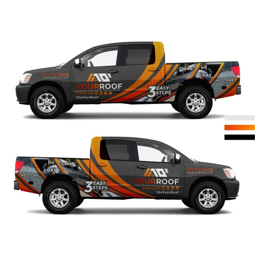 10xYourRoof - truck wrap