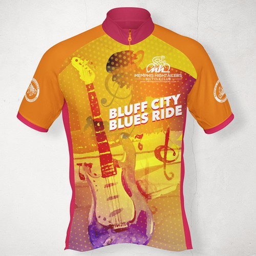 Colorful Jersey Cycling Kit Design For Memphis Hightailers