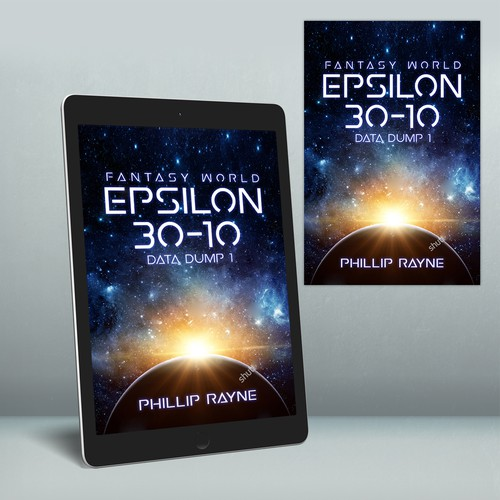 "Ebook cover ""Fantasy World Epsilon 30-10, Data Dump"""