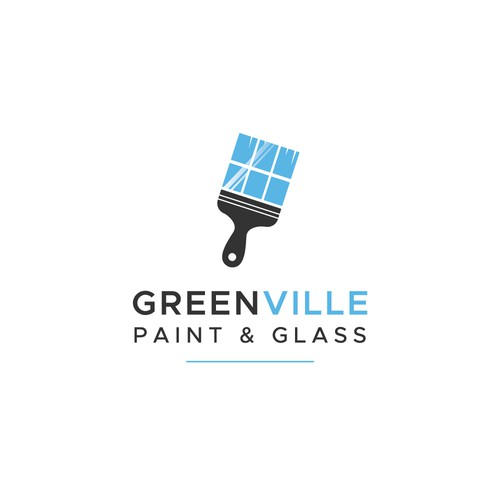 Logo concept for Greenville Paint & Glass