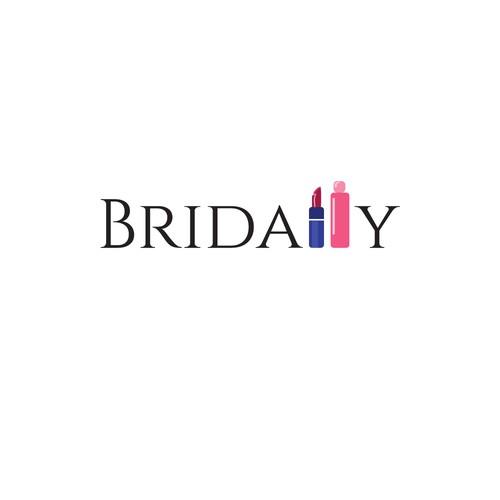 Font-driven logo design for Bridally wedding accessories.