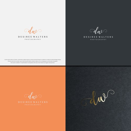 Luxury Logo for Desiree Walters Photography