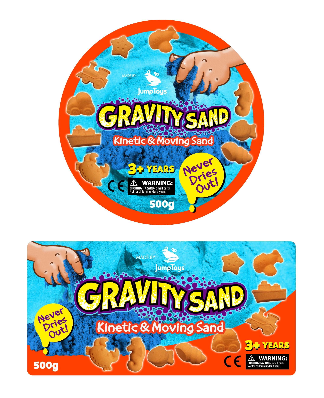 Gravity Sand Label