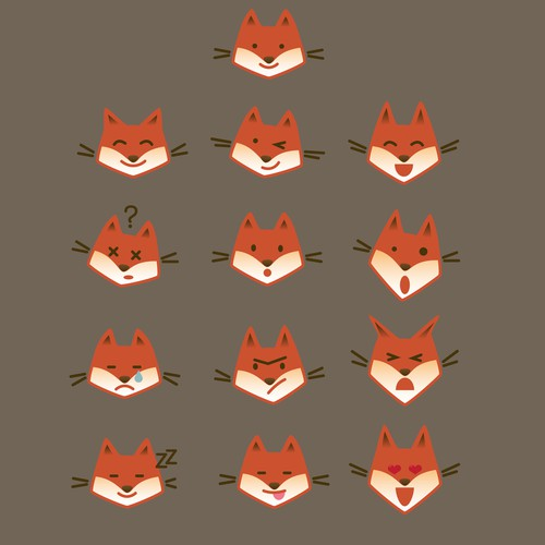 """CREATE AUNIQUE, FUNNY AND INTERESTING """"FOX""""STICKER PACKFOR USEIN A CHATAPP!"""