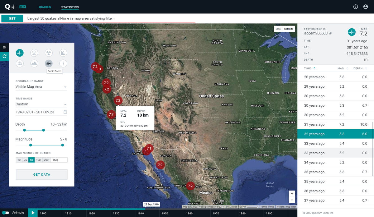 Graphics redesign for earthquake website