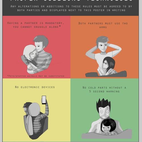 Poster design contest: Proper Cuddling Techniques
