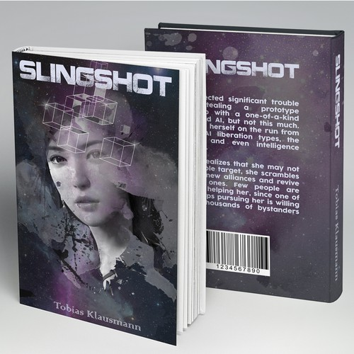"Book cover for SF novel ""Slingshot"""