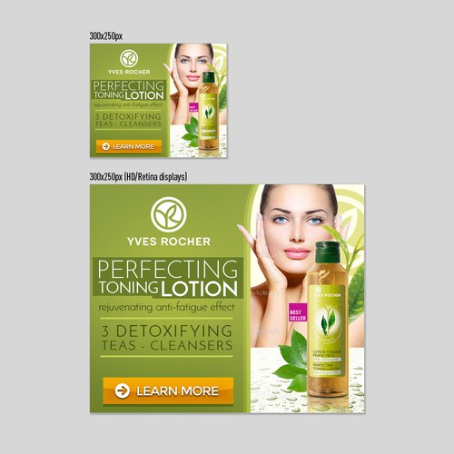Banner Ads Design - Perfecting Toning Lotion