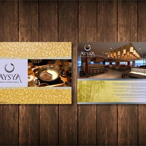 Aysya restaurant needs a new postcard or flyer