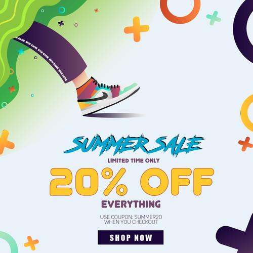 Summer Sale Creative for Sneaker Brand