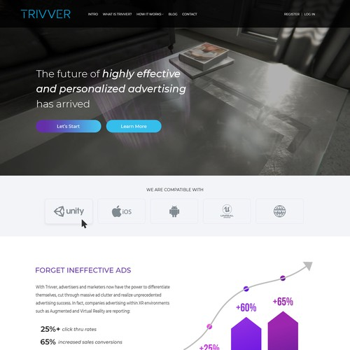 Trivver Home Page Redesign