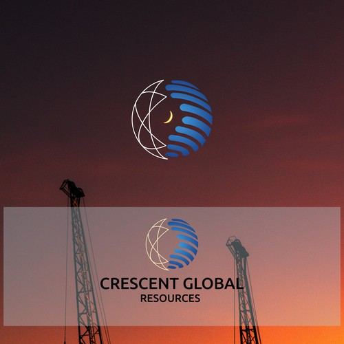 Logo concept for oil and gas company