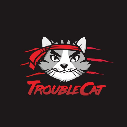 TroubleCat logo design