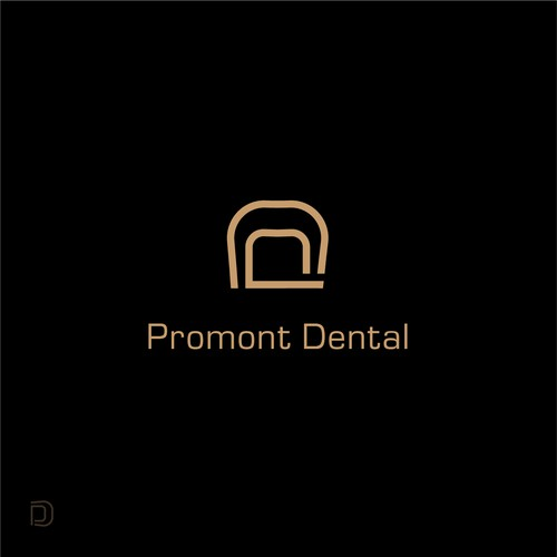 Minimalistic logo concept for dental office.