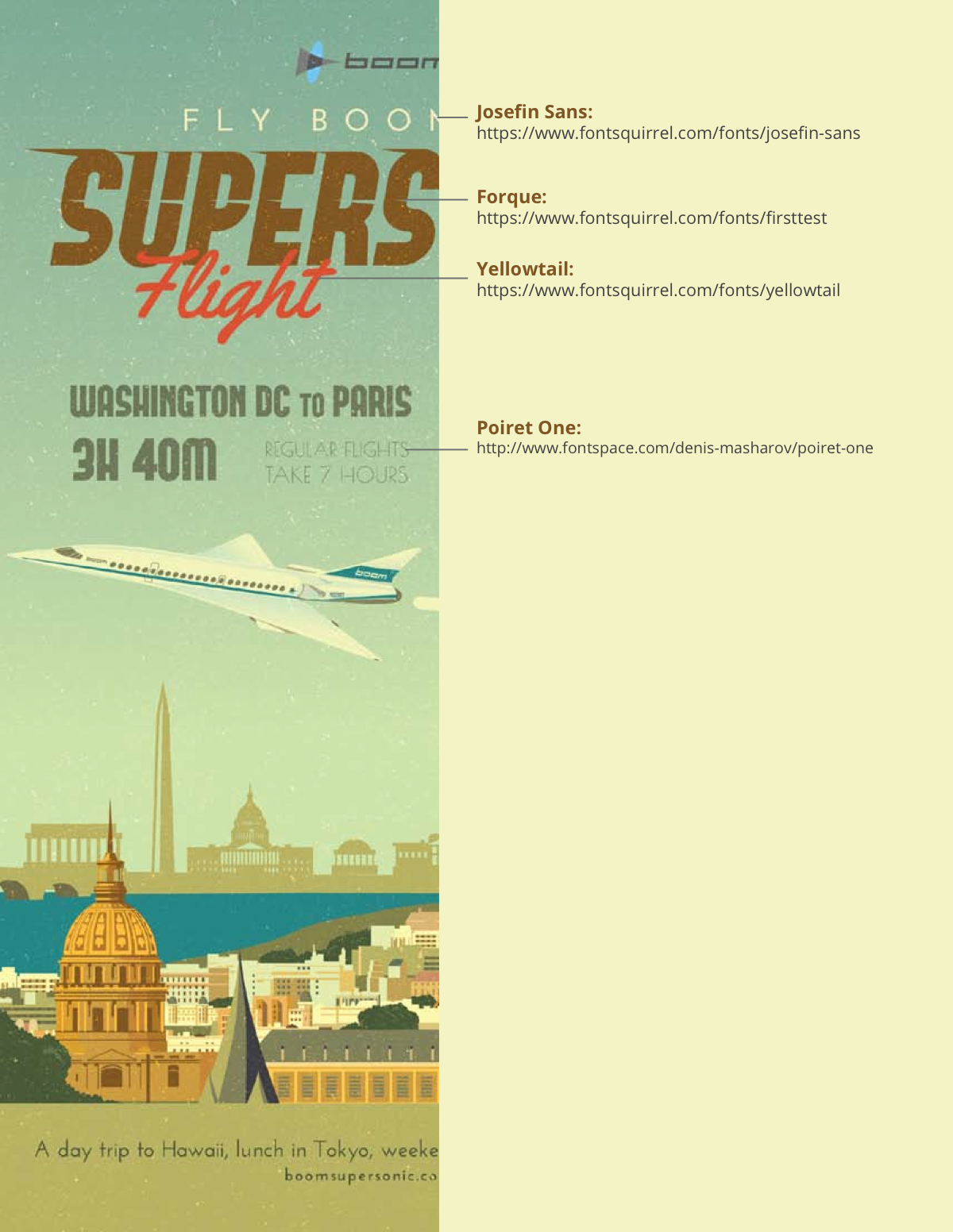 Vintage travel posters - supersonic