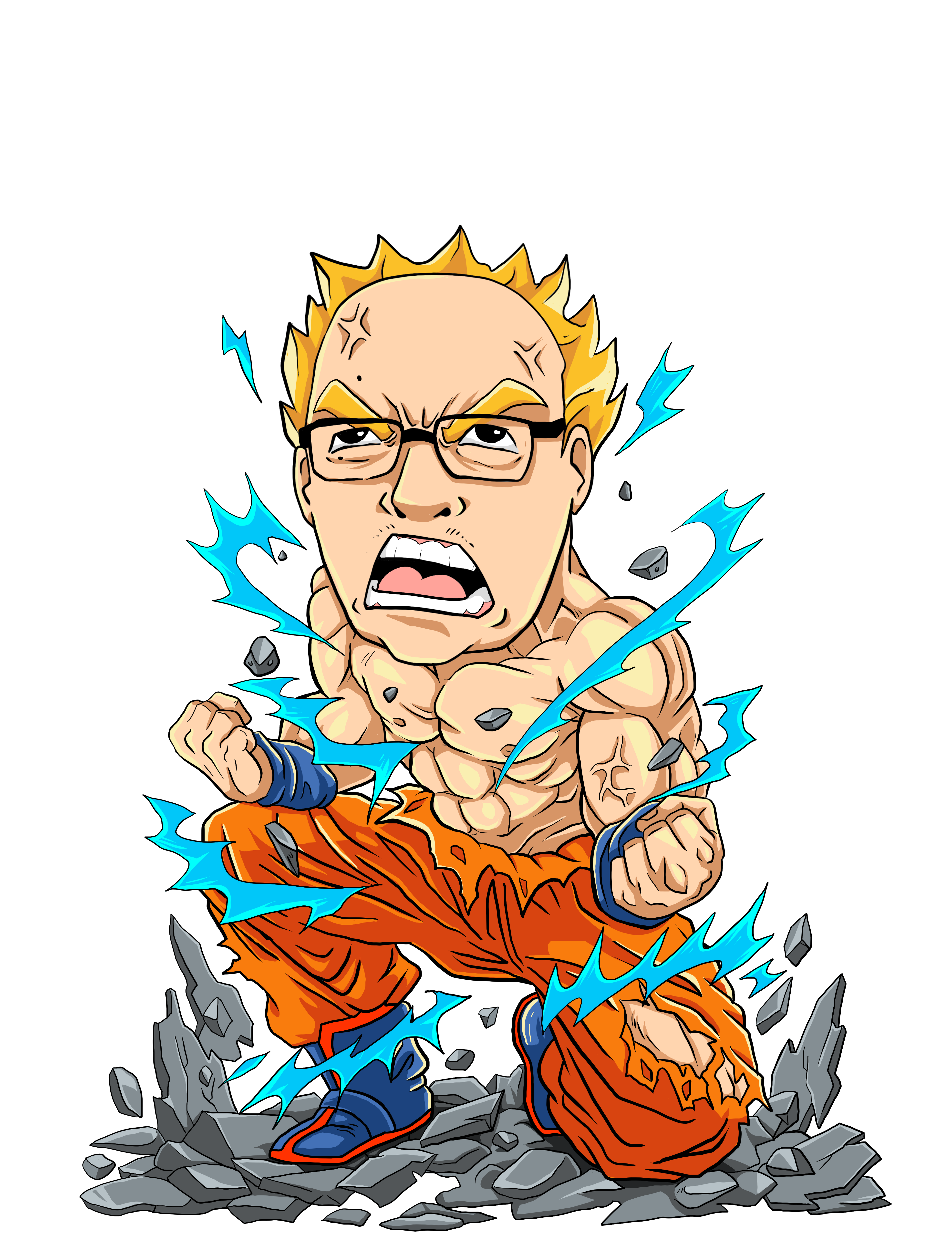 My Portrait Going Super Saiyan For T-Shirts