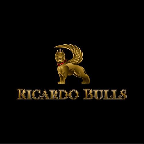 Gold American Bully Dog Logo