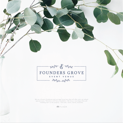 Sophisticated and luxurious logo for event services company.