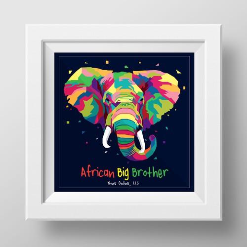 colorful  interpretation artist