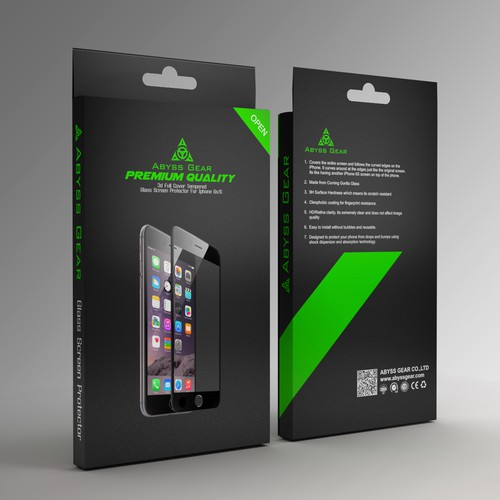 ackage for Tempered Glass Screen Protector for iPhone 6S
