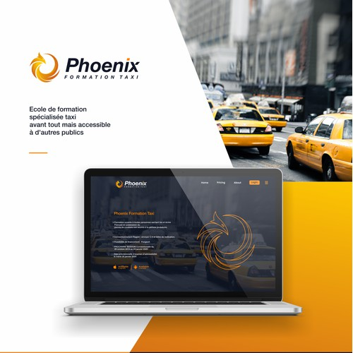 phoenix abstract logo concept