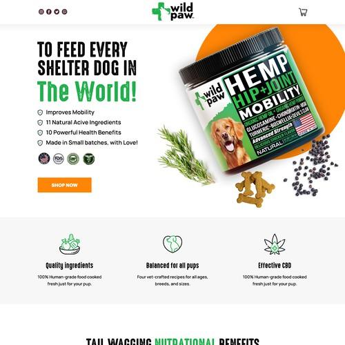 Dog product website