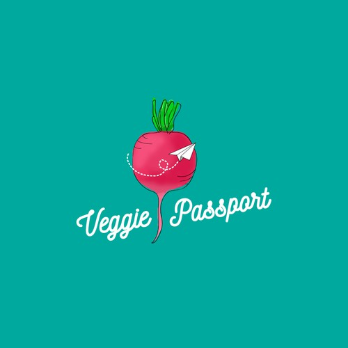 Logo for a vegan travel blog