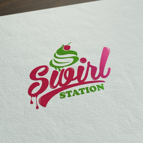 modern logo for ice cream shop
