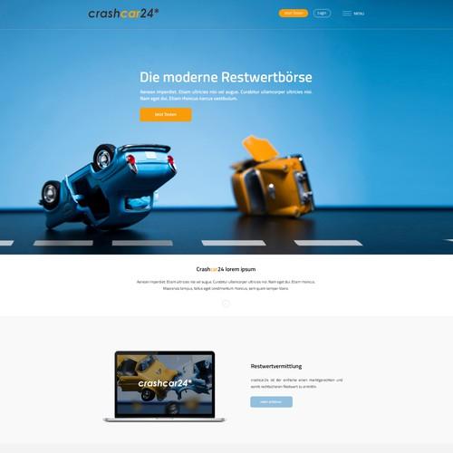 Webdesign for crashcar24