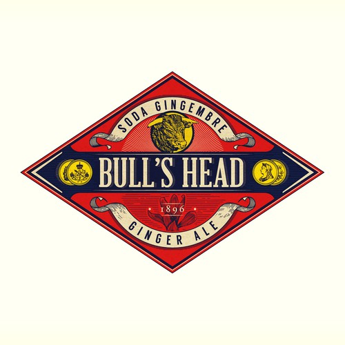 Bull's Head Ginger Ale - Since 1896