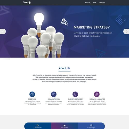 an Ad Agency Website - Responsive Design