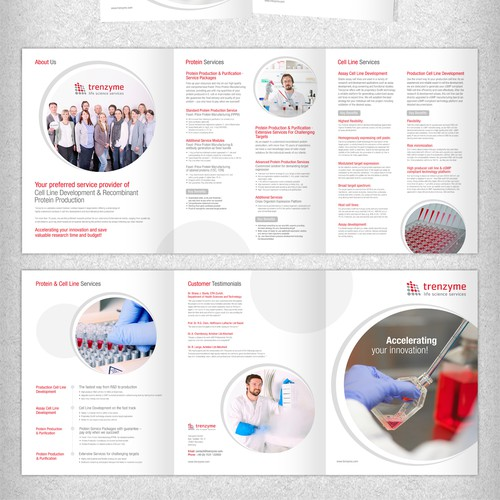 Create our new service brochure and help us to become famous in life science industry worldwide!