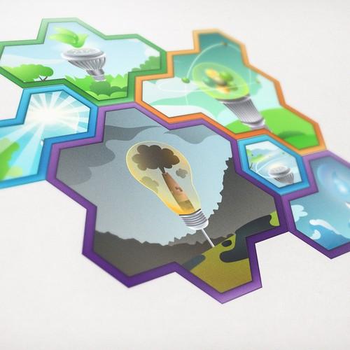 Hexagon Game Pieces Design