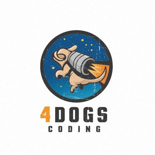 Logo design for 4 Dogs Coding