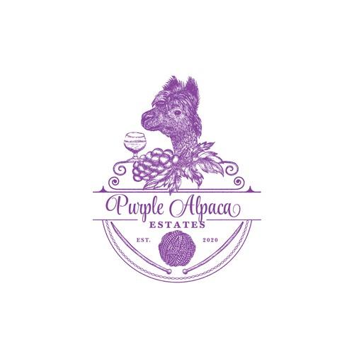 Logo & branding identity design for the vineyard and alpaca farm