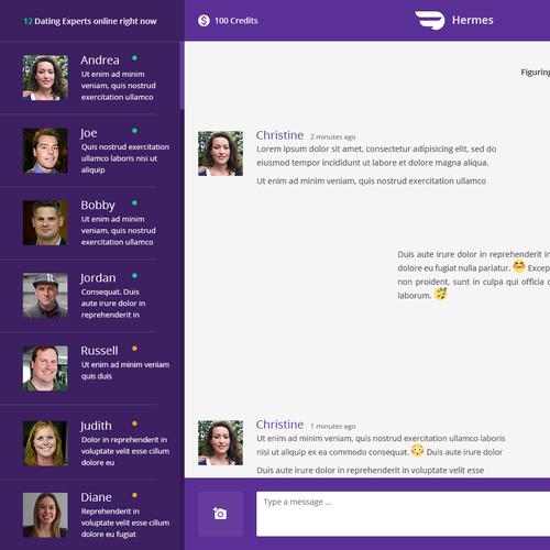 Chat UI Concept Design